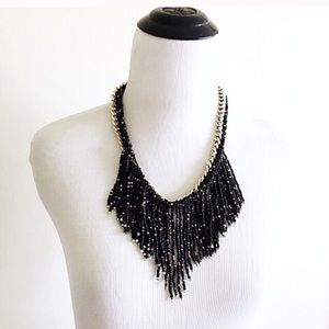 Jewelry - NWT Black and gold beaded necklace